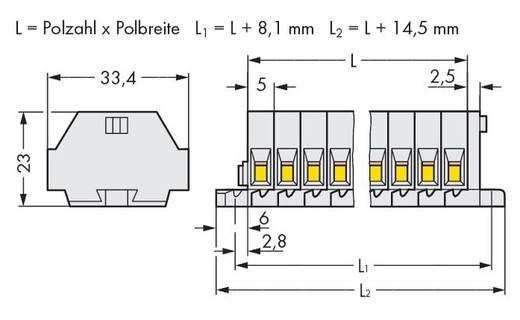 Klemstrook 5 mm Veerklem Toewijzing: L Grijs WAGO 262-134 100 stuks
