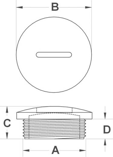 Blindstop PG7 Polyamide Zwart KSS PSPR7 1 stuks