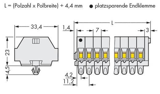 Klemstrook 7 mm Veerklem Toewijzing: L Grijs WAGO 262-186 50 stuks