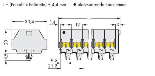 Klemstrook 12 mm Veerklem Toewijzing: L Grijs WAGO 262-289 50 stuks