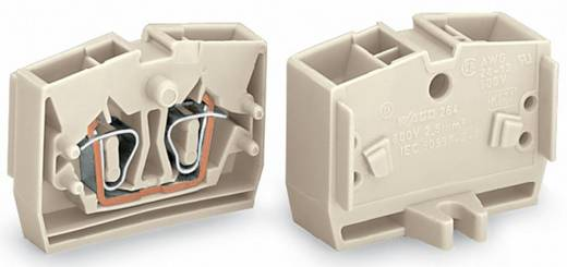 Aderklem 6 mm Veerklem Toewijzing: L Grijs WAGO 264-130 100 stuks