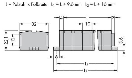 Klemstrook 10 mm Veerklem Toewijzing: L Grijs WAGO 264-212 25 stuks