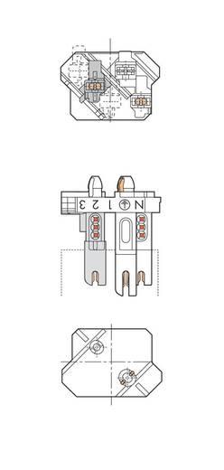 WAGO Verbindingsklem Flexibel: - Massief: 1-0.5 mm² Aantal polen: 4 500 stuks Wit