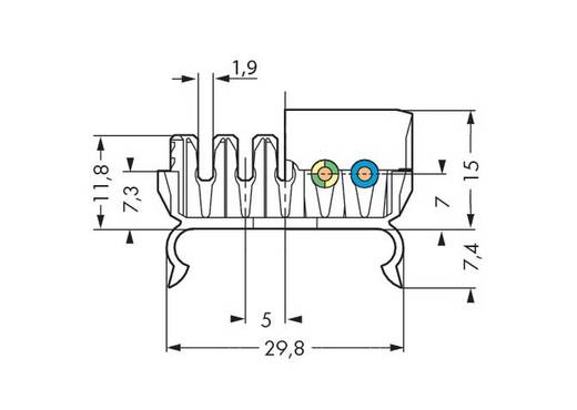 WAGO 267-143 Verbindingsklem Flexibel: - Massief: 1.5-2.5 mm² Aantal polen: 5 500 stuks Wit