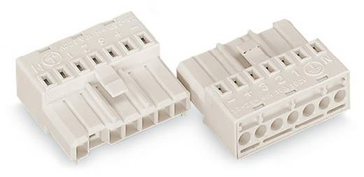 WAGO Verbindingsstekker Flexibel: - Massief: 1.5-2.5 mm² Aantal polen: 7 50 stuks Wit