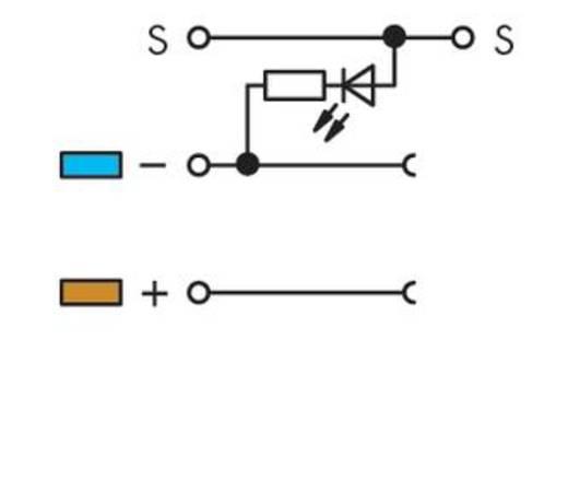 Initiatorklemmen 5 mm Veerklem Toewijzing: L Grijs WAGO 270-560/281-434 50 stuks