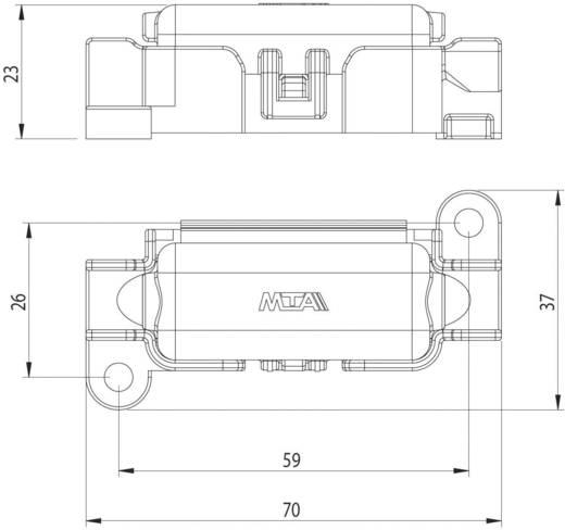 ESKA 1.003600 Zekeringhouder Geschikt voor Zekeringsstrip 150 A 32 V/DC 1 stuks