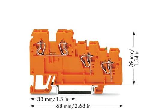 Actorklem 5 mm Veerklem Oranje WAGO 270-586 10 stuks