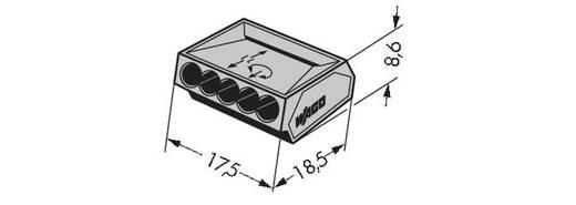 WAGO 273-101 Lasklem Flexibel: - Massief: 0.75-1.5 mm² Aantal polen: 5 1000 stuks Grijs