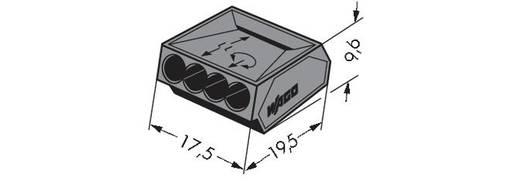 WAGO 273-102 Lasklem Flexibel: - Massief: 1-2.5 mm² Aantal polen: 4 1000 stuks Donkergrijs