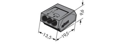 WAGO 273-104 Lasklem Flexibel: - Massief: 1-2.5 mm² Aantal polen: 3 1000 stuks Donkergrijs