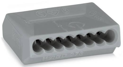 WAGO 273-108 Lasklem Flexibel: - Massief: 0.75-1.5 mm² Aantal polen: 8 500 stuks Grijs