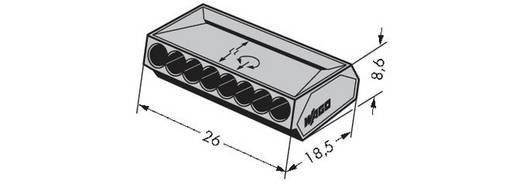 WAGO Lasklem Flexibel: - Massief: 0.75-1.5 mm² Aantal polen: 8 500 stuks Grijs