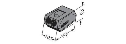 WAGO Lasklem Flexibel: - Massief: 1-2.5 mm² Aantal polen: 2 1000 stuks Donkergrijs