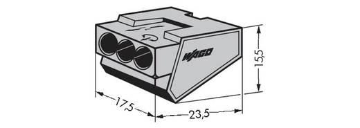 WAGO 273-403 Lasklem Flexibel: - Massief: 1.5-4 mm² Aantal polen: 3 500 stuks Grijs