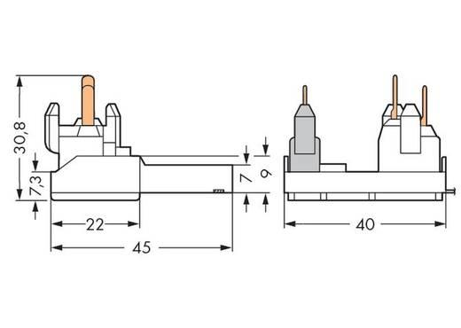 WAGO Verbindingsklem Flexibel: - Massief: 0.5-1 mm² Aantal polen: 4 200 stuks Wit