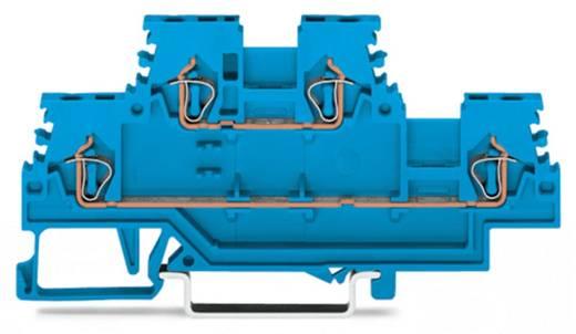 Doorgangsklem 2-etages 4 mm Veerklem Toewijzing: N, N Blauw WAGO 279-504 50 stuks