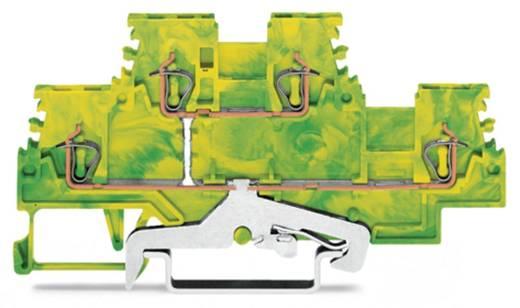 Aardklem 2-etages 4 mm Veerklem Toewijzing: Terre Groen-geel WAGO 279-507 50 stuks