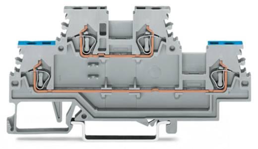 Doorgangsklem 2-etages 4 mm Veerklem Toewijzing: N, L Grijs WAGO 279-512 50 stuks