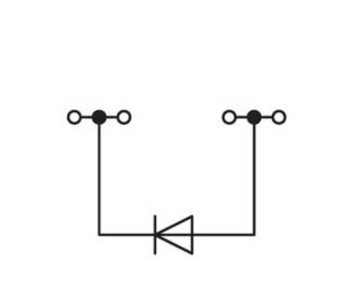 Diodeklem 4 mm Veerklem Toewijzing: L Grijs WAGO 279-623/281-411 100 stuks