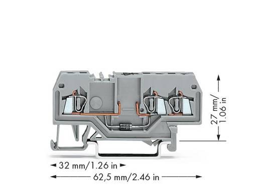 Diodeklem 4 mm Veerklem Toewijzing: L Grijs WAGO 279-673/281-410 100 stuks