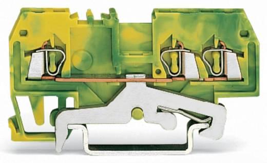 Aardingsklem 4 mm Veerklem Toewijzing: Terre Groen-geel WAGO 279-687/999-950 100 stuks