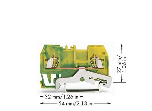 Aardingsklem 4 mm Veerklem Toewijzing: Terre Groen-geel WAGO 279-907 100 stuks