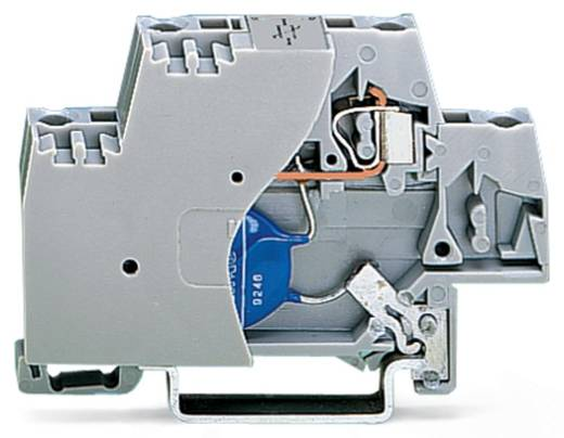 Aderklem 10 mm Veerklem Toewijzing: L Grijs WAGO 280-502/281-588 50 stuks