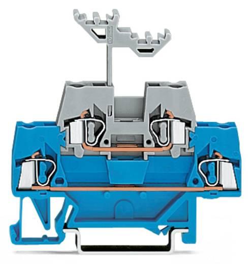 Doorgangsklem 2-etages 5 mm Veerklem Blauw, Grijs WAGO 280-523 50 stuks