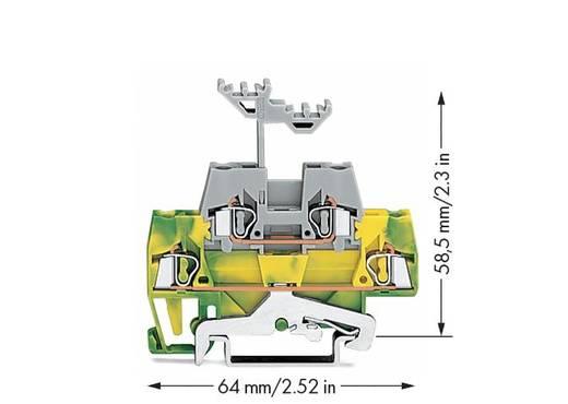 Doorgangsklem 2-etages 5 mm Veerklem Groen-geel, Grijs WAGO 280-527 50 stuks
