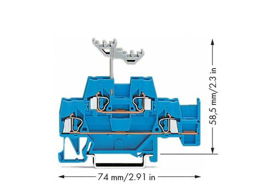 Doorgangsklem 2-etages 5 mm Veerklem Toewijzing: N Blauw WAGO 280-530 50 stuks
