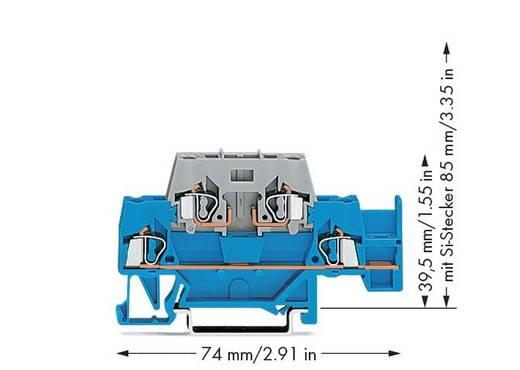 Doorgangsklem 2-etages 5 mm Veerklem Blauw, Grijs WAGO 280-532 50 stuks