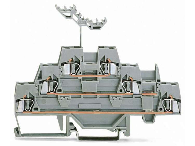 WAGO 280-549 Doorgangsklem 3-etages 5 mm Veerklem Toewijzing: L Grijs 40 stuks