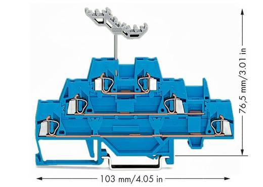 Doorgangsklem 3-etages 5 mm Veerklem Toewijzing: N Blauw WAGO 280-551 40 stuks