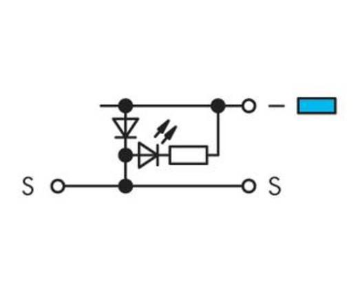LED-klem 5 mm Veerklem Toewijzing: L Grijs WAGO 280-562/281-420 50 stuks