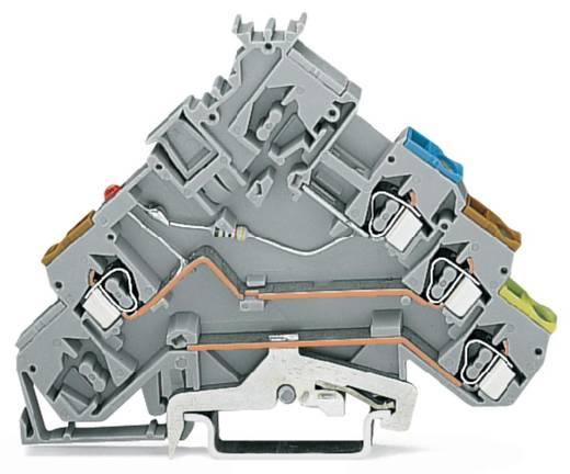 LED-klem 5 mm Veerklem Toewijzing: L Grijs WAGO 280-572/281-420 50 stuks