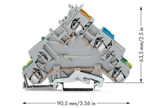 Initiatorklemmen 5 mm Veerklem Toewijzing: L Grijs WAGO 280-574/281-483 10 stuks
