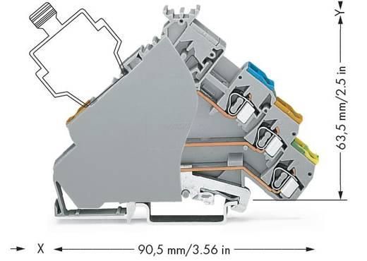 Actorklem 6 mm Veerklem Toewijzing: L Grijs WAGO 280-575/280-320 50 stuks
