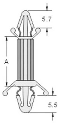 KSS CS-0406S Printplaathouder Polyamide Afstand 6.4 mm 1 stuks