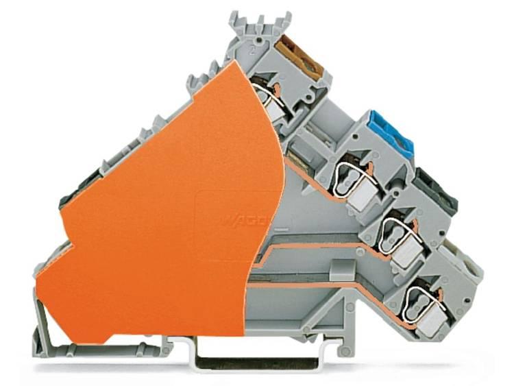 Initiatorklem 6 mm Veerklem Toewijzing: L Grijs WAGO 280-588/280-323 50 stuks