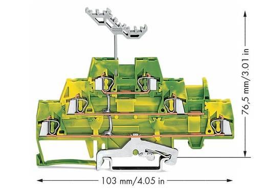 Doorgangsklem 3-etages 5 mm Veerklem Toewijzing: Terre Groen-geel WAGO 280-597 40 stuks