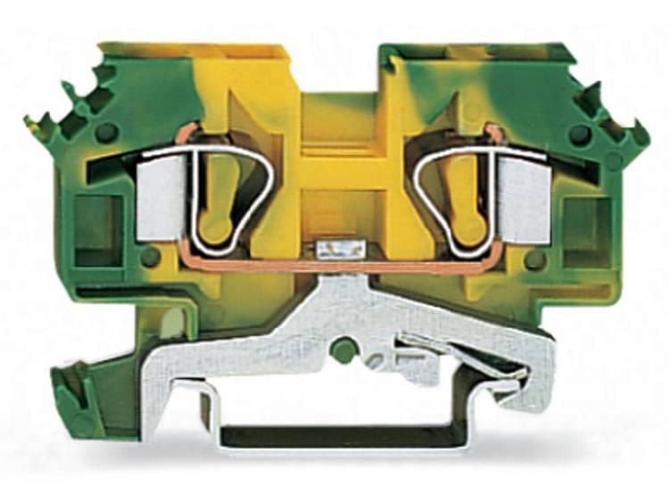 WAGO 282-607 Aardingsklem 8 mm Veerklem Toewijzing: Terre Groen-geel 50 stuks