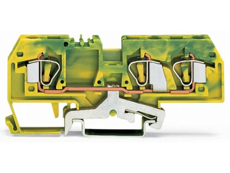 WAGO 282-687 Aardingsklem 8 mm Veerklem Toewijzing: Terre Groen-geel 25 stuks