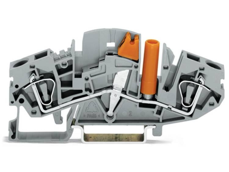WAGO 282-811 Scheidingsklem 8 mm Veerklem Toewijzing: L Grijs 20 stuks