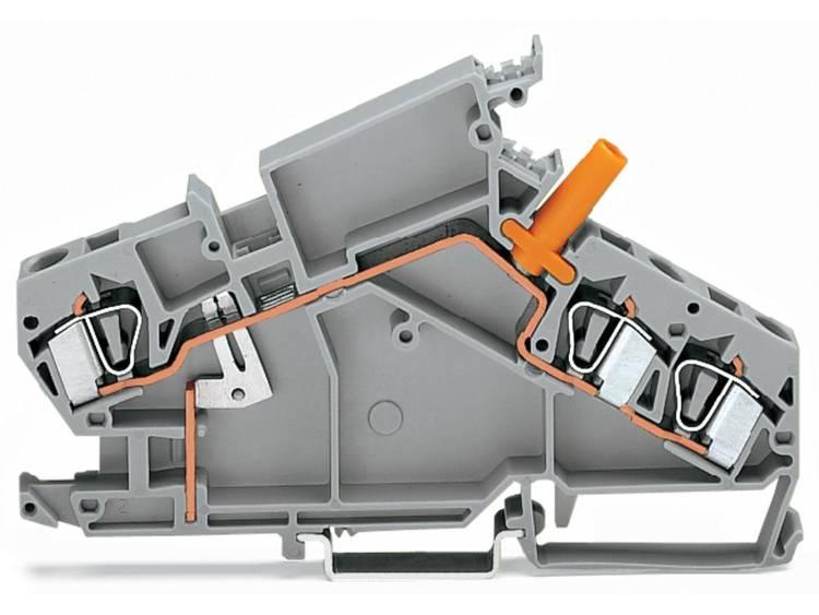 WAGO 282-865 Doorgangsklem 8 mm Veerklem Toewijzing: L Grijs 20 stuks