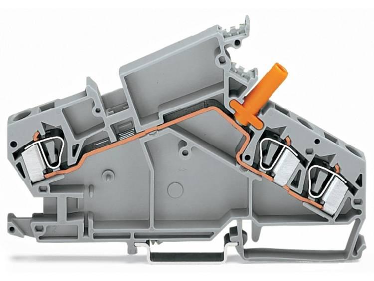WAGO 282-866 Doorgangsklem 8 mm Veerklem Toewijzing: L Grijs 20 stuks
