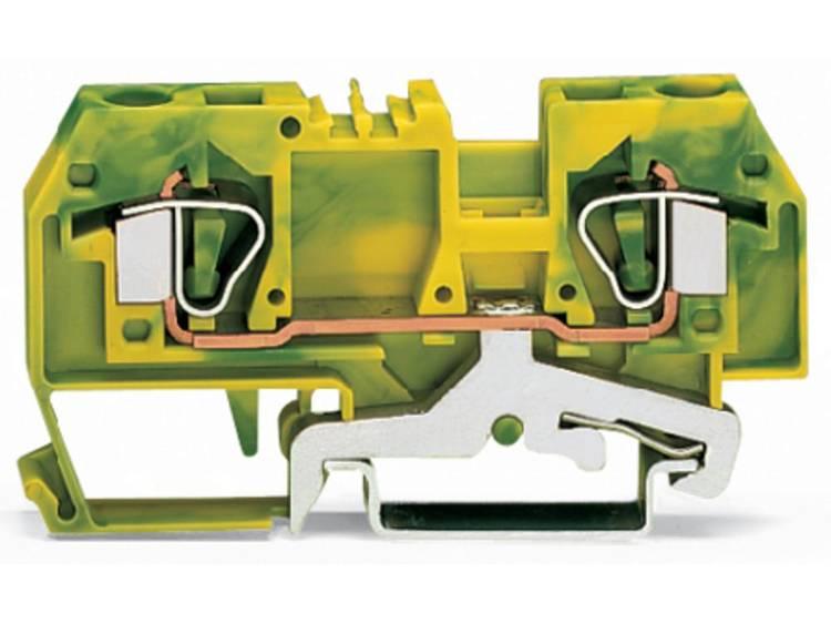 Aardingsklem 8 mm Veerklem Toewijzing: Terre Groen-geel WAGO 282-907 50 stuks