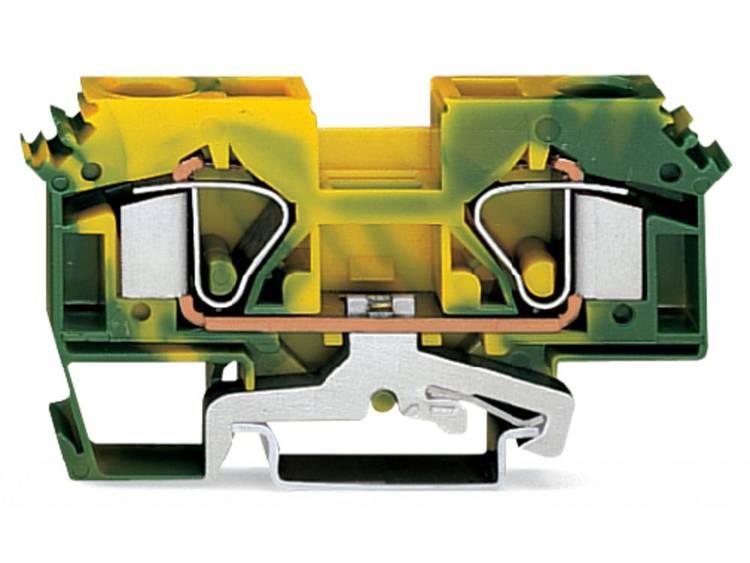 WAGO 283-607/999-950 Aardingsklem 12 mm Veerklem Toewijzing: Terre Groen-geel 25 stuks