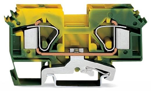 Aardingsklem 12 mm Veerklem Toewijzing: Terre Groen-geel WAGO 283-607/999-950 25 stuks