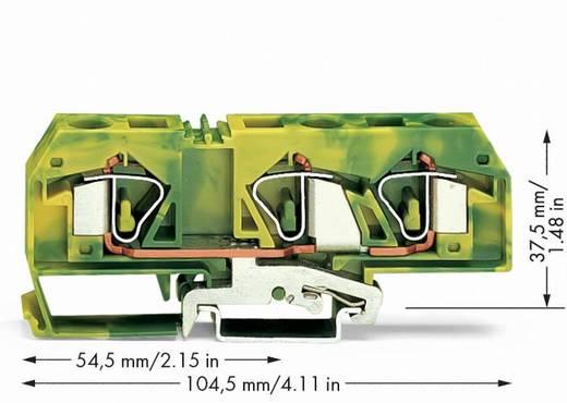 Aardingsklem 12 mm Veerklem Toewijzing: Terre Groen-geel WAGO 283-677/999-950 20 stuks